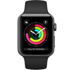 Chytré hodinky Apple Watch Series 3 38mm (MQKV2CN/A) Space Grey Aluminium Case with Black Sport Band