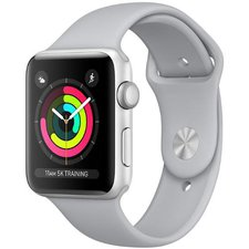Chytré hodinky Apple Watch Series 3 38mm (MTEY2CN/A) Silver Aluminium Case with White Sport Band