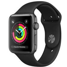 Chytré hodinky Apple Watch Series 3 42mm (MTF32CN/A) Space Grey Aluminium Case with Black Sport Band