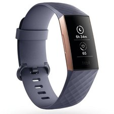 Chytrý náramek Fitbit Charge 3 Rose Gold / Blue Grey