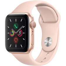Chytré hodinky Apple Watch Series 5 40mm (MWV72HC/A) Gold Aluminium Case with Pink Sand Sport Band